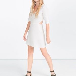Zara Trafaluc Collection White Mini with cutouts